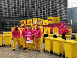 Mit einem Flashmob startete die gemeinsame Kampagne der Systeme